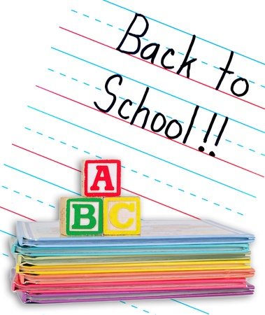 practice primary: Back to School Written on a Lined Dry Erase Board