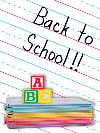 dry erase board: Back to School Written on a Lined Dry Erase Board