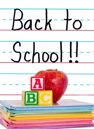 Back to School Written on a Lined Dry Erase Board Stock fotó - 10079564