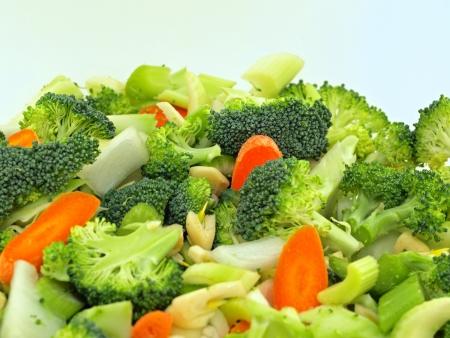 Verse Groenten Gehakte in voorbereiding voor de Cooking Stockfoto