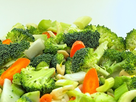 Fresh Vegetables Chopped in Preparation for Cooking photo