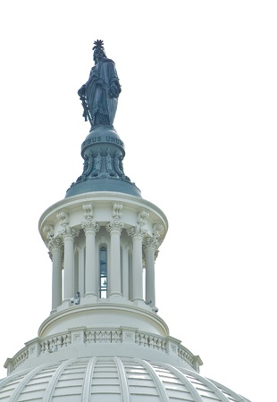 The Statue of Freedom utop the United States Capitol Building in Washington DC Stock Photo - 12675252