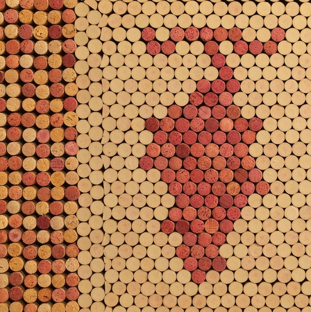 Used Wine Corks Grape Cluster Pattern for Background photo