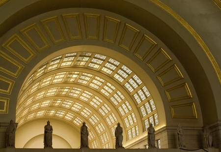 archways: Interior Archways at Union Station in Washington DC Stock Photo