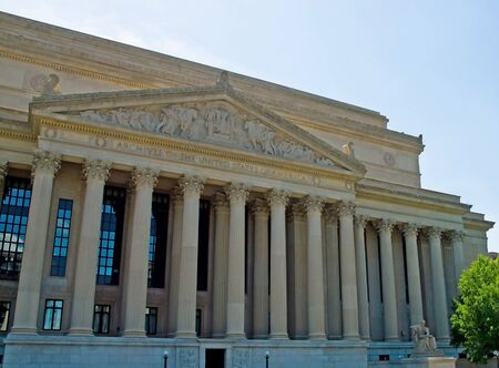 National Archives of the United States in Washington DC Stock Photo