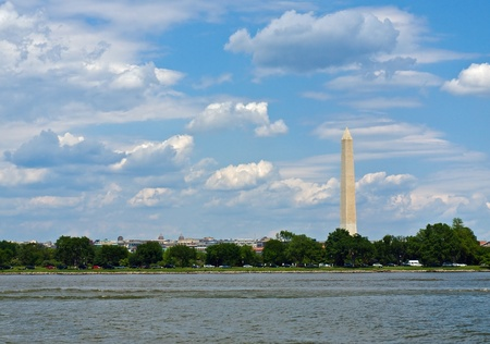The Washington Monument in Washington DC as Seen from the Potomac River