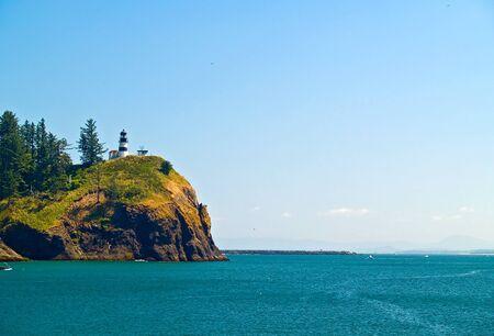 decepci�n: El Faro de Cabo Decepci�n en Fort Canby State Park en Washington EE.UU. Estado