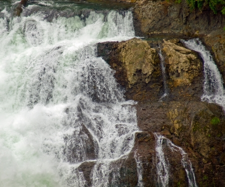 Beautiful Mountain Waterfall in Snoqulamie Washington USA Stock Photo