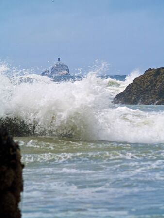 Offshore lighthouse on the Oregon Coast nicknamed Terrible Tilly photo
