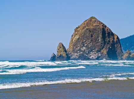 Rugged Rocky Beach on the Oregon Coast featuring Haystack Rock photo