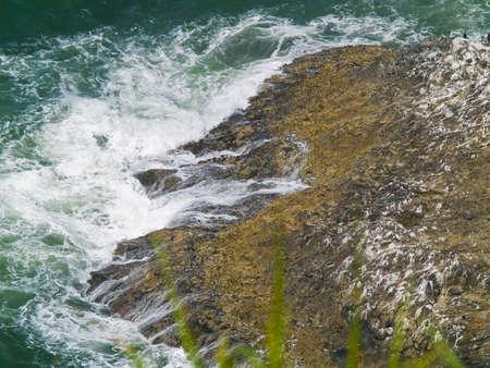Rugged Rocky Coastline on the Oregon Coast Overlook from Cape Meares Lighthouse photo