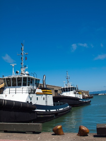 san fran: Tug Boats Docked in San Francisco California USA