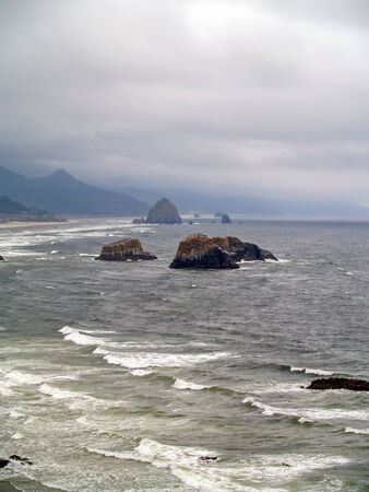 View of the Oregon Coast from Ecola State Park photo