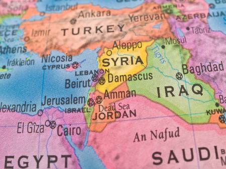 Global Studies - Midden-Oosten Landen Centered over Syrië