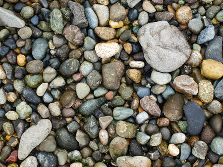 Background of Smooth Stones on the Seashore photo