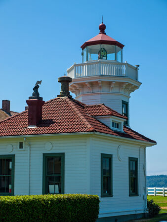 The Lighthouse at Mukilteo in Washington State USA Stock Photo