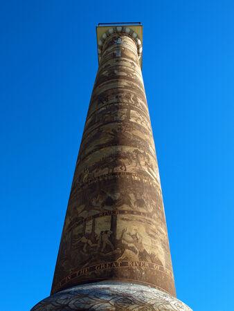 coxcomb: The Astoria Column Depicting the Histrory of the Region in Astoria Oregon USA