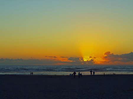 hirtshals: Golden Sunset Over the Ocean