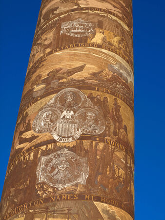 coxcomb: The Astoria Column Depicting the Histrory of the Region in Astoria Oregon USA