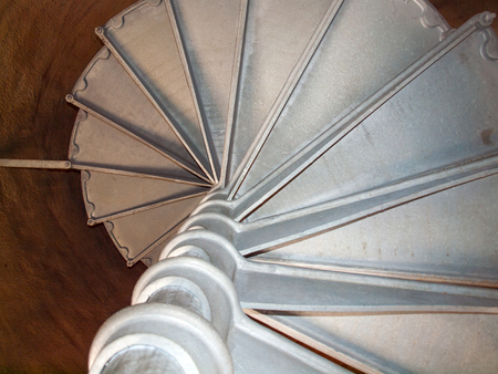 A View of the Spiral Stairway to the Top of Astoria Column, Astoria Oregon USA photo