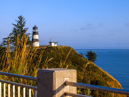 Cape Disappointment Lighthouse in Fort Canby State Park near Ilwaco Washington USA