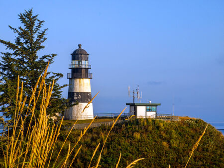 disappointment: Cape Disappointment Lighthouse in Fort Canby State Park near Ilwaco Washington USA