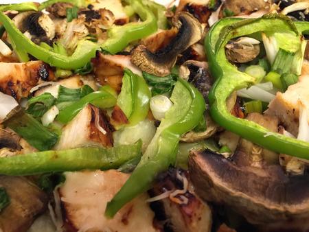BBQ Chicken Pizza on a Flatbread with Veggies