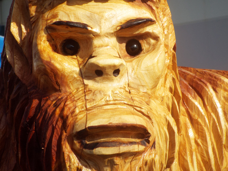 A Bigfoot Made out of Wood
