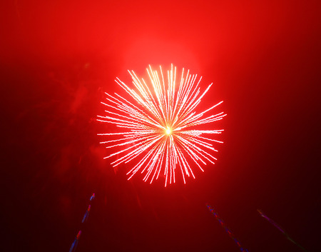 pyrotechnics: Fireworks Trails with a Blurred Zoom Lens Effect