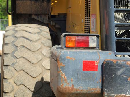heavy duty: Closeup Details of Heavy Duty Construction Equipment Stock Photo