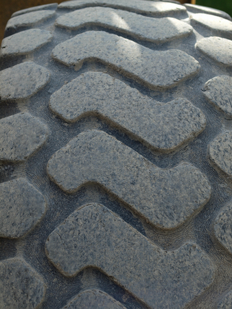 treads: Close Up of a Construction Vehicles Tires Treads