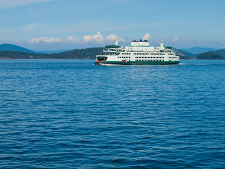 puget: Ferry Boat in the Puget Sound in Washington State USA