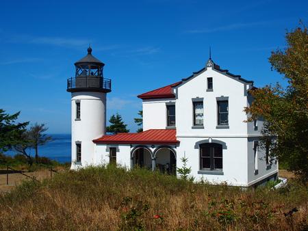 Adniralty Head Lighthouse on Whidbey Island Washington USA Editorial