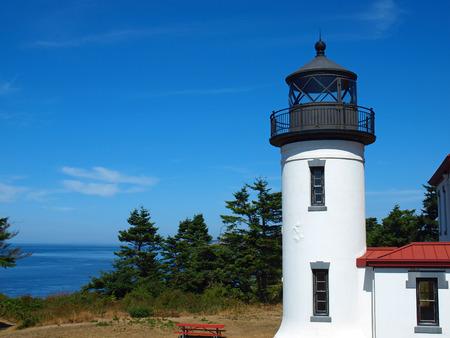 Adniralty Head Lighthouse on Whidbey Island Washington USA Stock Photo