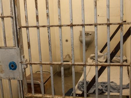 oracion: Interior de una penitenciaría del estado histórico en Boise Idaho EE.UU. Editorial
