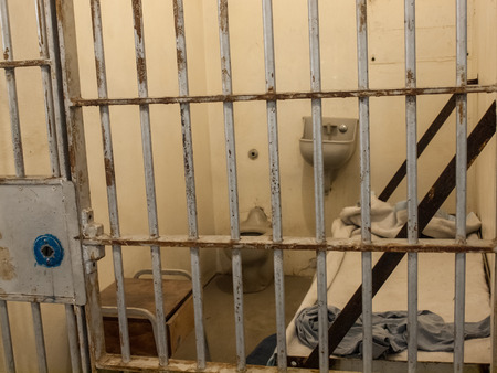 incarcerated: Interior of an Historic State Penitentiary in Boise Idaho USA