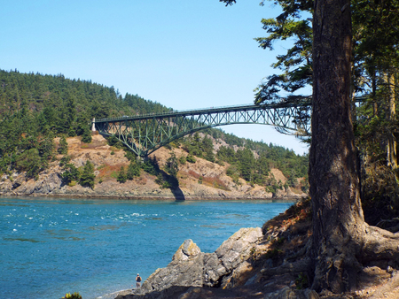 Deception Pass Bridge on Whidbey Island Washington USA