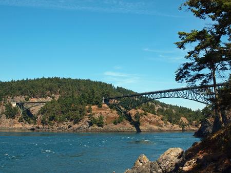deception: Deception Pass Bridge on Whidbey Island Washington USA