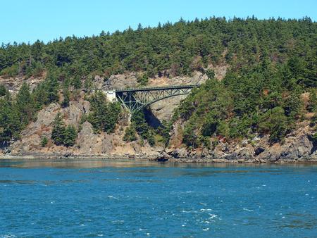 Deception Pass Bridge on Whidbey Island Washington USA