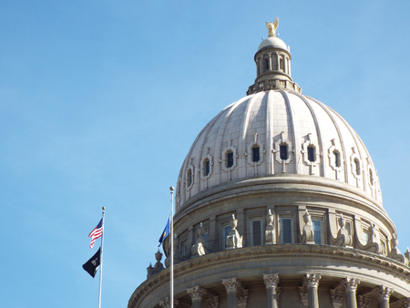 administrativo: Domed Capitol Building in Boise Idaho USA Editorial