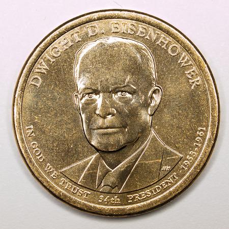 eisenhower: US Gold Presidential Dollar Featuring Dwight D Eisenhower