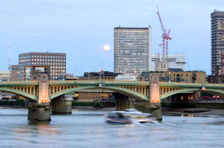 Thames at Evening Stock Photo
