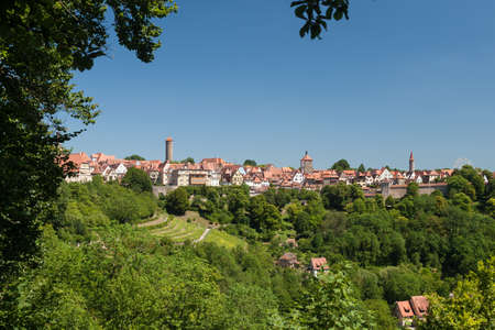 Skyline of Rothenburg ob der Tauber in Bavaria Germany photo