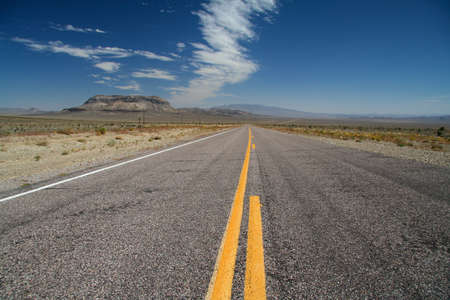 death valley: Road to the Death Valley National Park in California USA Stock Photo