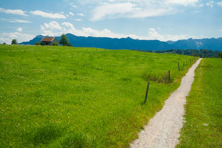 Path near the Staffelsee in Bavaria - Germany photo