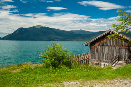 Cottage at the lake Walchensee in Bavaria - Germany photo