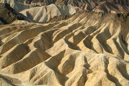 Rock formations at the Zabriskie Point at the Death Valley National Park in the USA Stock Photo - 16896770