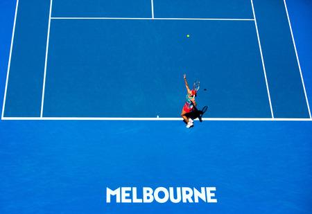 Die Kielerin Angelique Kerber steht erstmals bei den Australian Open in Melbourne im Viertelfinale / Australien / Hartplatz / Grand Slam / Melbourne / Victoria / Melbourne Park / SPO / Tennis / Happy Slam / 2016