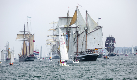 Largest parade of windjammers in the world during Kiel Week