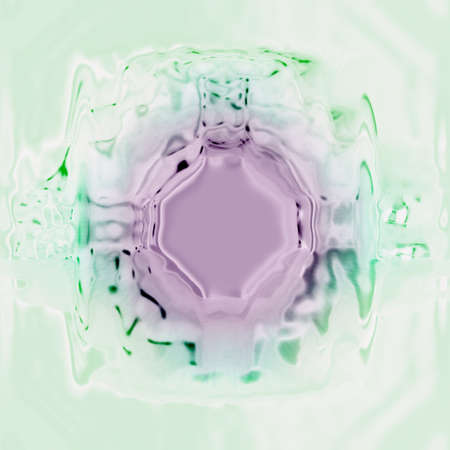 Abstract illustrated glass object photo